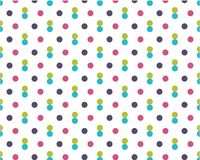 Dirty colored dots on white background. Purple, blue, yellow festive pattern round shape stock illustration