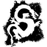 Grunge Dragon royalty free stock photography