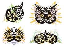 Grunge dragon symbols Royalty Free Stock Photos
