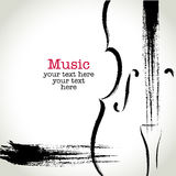 Grunge drawing cello with brushwork Royalty Free Stock Photos
