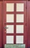 Grunge drewniany drzwi zdjęcia stock