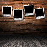 grunge drewniany wewnętrzny izbowy Fotografia Royalty Free