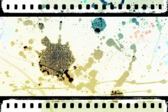 Grunge dripping film strip frame. Retro design element. Royalty Free Stock Images