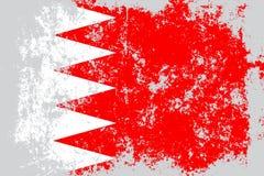 Grunge du Bahrain, vieux, rayé drapeau de style Image stock