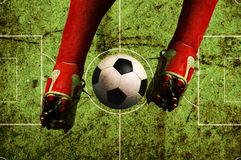 Grunge du football Photographie stock libre de droits