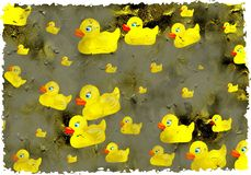 Grunge ducks Royalty Free Stock Images