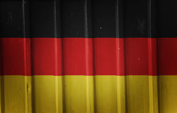 Grunge Duitse vlag Stock Foto