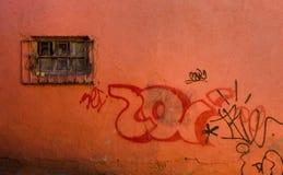 Grunge e graffiti Fotografia Stock