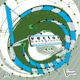Grunge e ilustração técnica do vetor, fundo do vetor feito Imagem de Stock