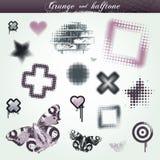 Grunge e a reticulação projetam elementos Fotos de Stock Royalty Free