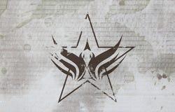 Grunge eagle star. On the old background vector illustration