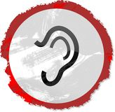 Grunge ear sign Stock Photography