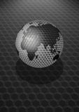 Grunge Earth. An illustration of globe in grunge style Royalty Free Stock Photo