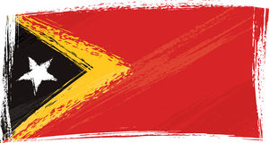 Grunge East Timor flag Royalty Free Stock Images
