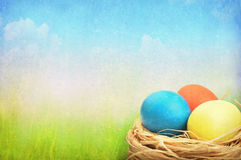 Grunge easter background Royalty Free Stock Photo