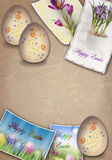 Grunge easter background Royalty Free Stock Photos