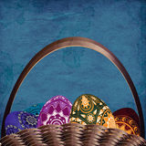Grunge easter basket Royalty Free Stock Photo