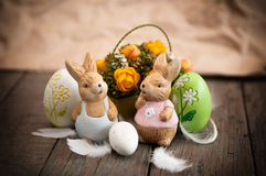 Grunge Easter decoration Royalty Free Stock Image