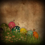 Grunge Easter egg background Stock Image
