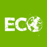 Grunge eco symbol Stock Photo