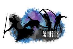 Grunge ed atletico immagini stock libere da diritti