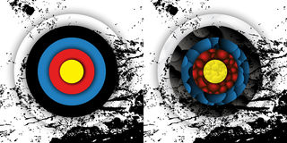 Grunge effect archery targets Stock Images