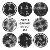 Grunge effect circle collections. Banners, Insignias , Logos, Icons, Labels and Badges Set .  distress textures.blank shapes. Black circle shape grunge Vector Stock Photo