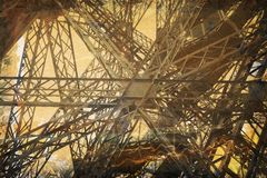 Grunge Eiffel Tower Royalty Free Stock Photos