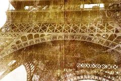 Grunge Eiffelturmdetail Stockfoto