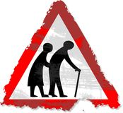 Grunge elderly people sign Royalty Free Stock Photography
