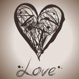 Grunge elegance ink splash illustration of heart. This is file of EPS8 format Stock Photos