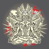 Grunge elegancka ilustracja Obraz Stock