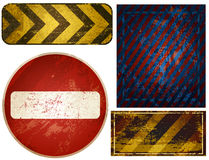 Grunge elements. Four editable  colorful grunge elements or signs Stock Images