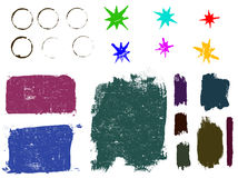 Grunge elements 2. Highly Detailed vector grunge elements. Grouped and layered for ease of use and coloring Vector Illustration