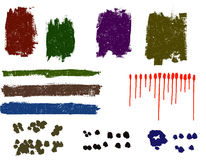 Grunge elements. Grunge paint dawbs, blood splats and paint spots - Highly Detailed Royalty Free Illustration