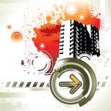 Grunge elements. On white background stock illustration