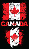 Grunge elements with flag of Canada. stock photo