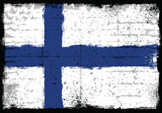 Grunge elements with flag of Finland. Stock Photos