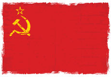 Grunge elements with flag of former USSR. Royalty Free Stock Images