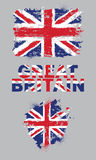 Grunge elements with flag of Great Britain. Stock Photo