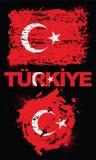 Grunge elements with flag of Turkey. Royalty Free Stock Photo
