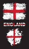 Grunge elementy z flaga Anglia ilustracji