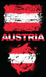 Grunge elementy z flaga Austria ilustracji