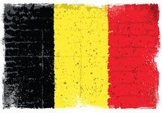 Grunge elementy z flaga Belgia royalty ilustracja