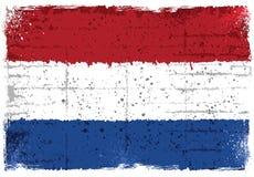 Grunge elementy z flaga holandie ilustracja wektor