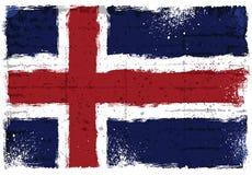 Grunge elementy z flaga Iceland ilustracja wektor