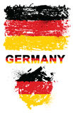 Grunge elementy z flaga Niemcy ilustracji