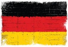 Grunge elementy z flaga Niemcy ilustracja wektor