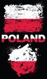 Grunge elementy z flaga Polska ilustracja wektor