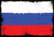 Grunge elementy z flaga Rosja ilustracja wektor